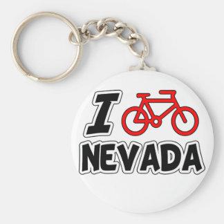 I Love Cycling Nevada Basic Round Button Keychain