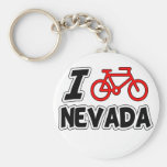 I Love Cycling Nevada Keychains