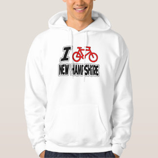 I Love Cycling New Hampshire Hoodie