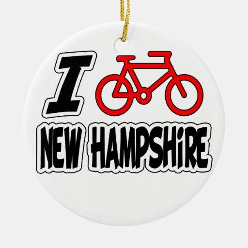 I Love Cycling New Hampshire Ornament