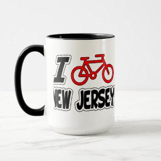 I Love Cycling New Jersey Mug