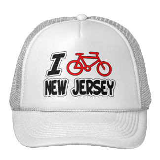 I Love Cycling New Jersey Trucker Hat