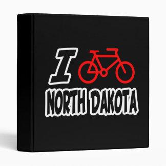 I Love Cycling North Dakota 3 Ring Binder