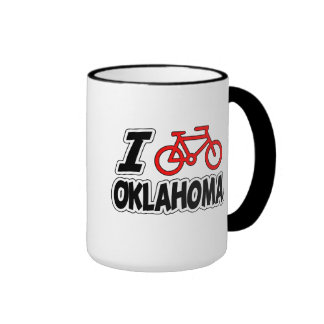 I Love Cycling Oklahoma Mug