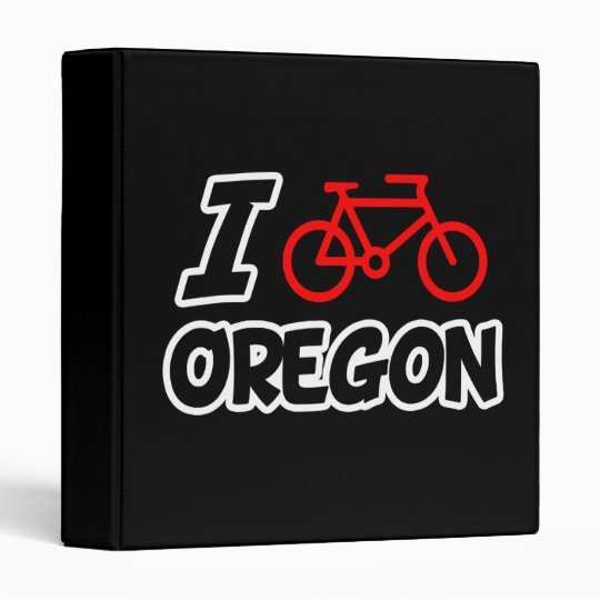 I Love Cycling Oregon 3 Ring Binder