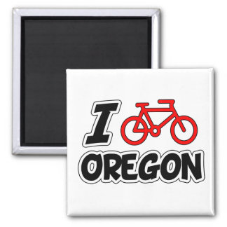 I Love Cycling Oregon Magnet