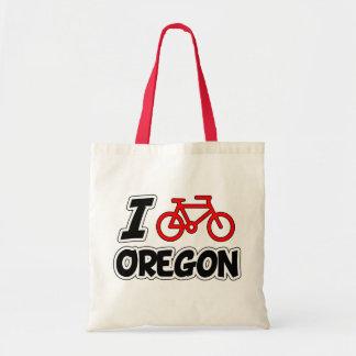 I Love Cycling Oregon Tote Bag