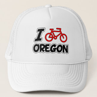I Love Cycling Oregon Trucker Hat