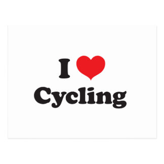 I love cycling postcard