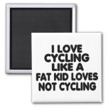 I Love Cycling Refrigerator Magnet