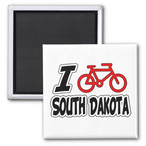 I Love Cycling South Dakota Fridge Magnet