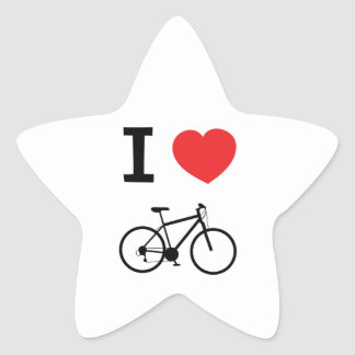 I love Cycling Star Sticker