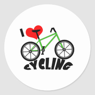 I Love Cycling Stickers