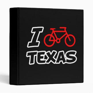 I Love Cycling Texas 3 Ring Binders