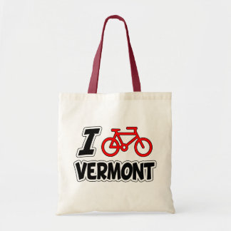 I Love Cycling Vermont Tote Bag