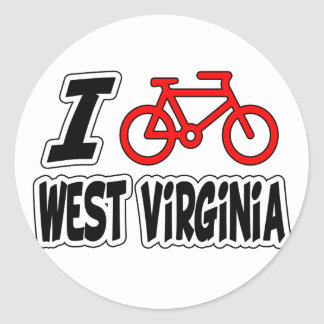 I Love Cycling West Virginia Stickers