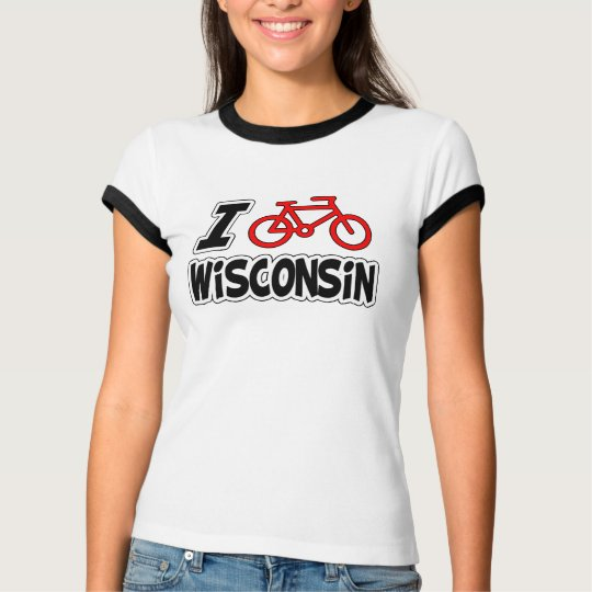 I Love Cycling Wisconsin T-Shirt