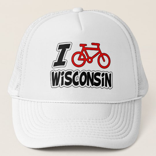 42cc5662d9f73 I Love Cycling Wisconsin Trucker Hat