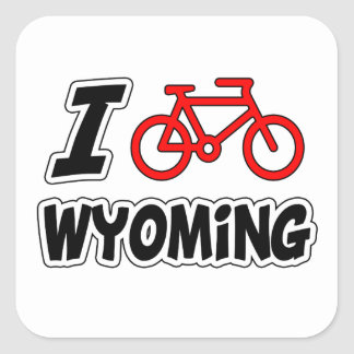 I Love Cycling Wyoming Sticker