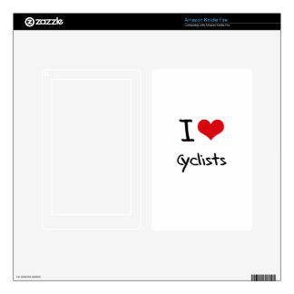 I love Cyclists Decal For Kindle Fire