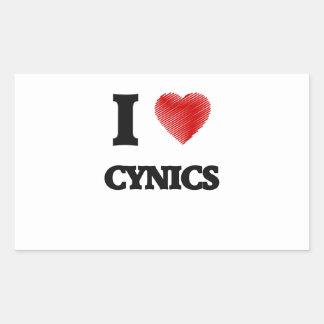 I love Cynics Rectangular Sticker