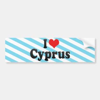 I Love Cyprus Car Bumper Sticker