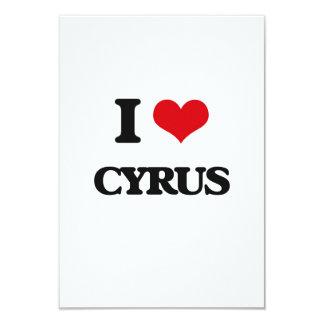 I Love Cyrus 3.5x5 Paper Invitation Card