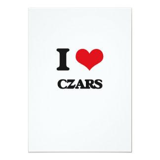 "I love Czars 5"" X 7"" Invitation Card"