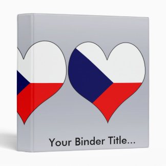 I Love Czech 3 Ring Binder