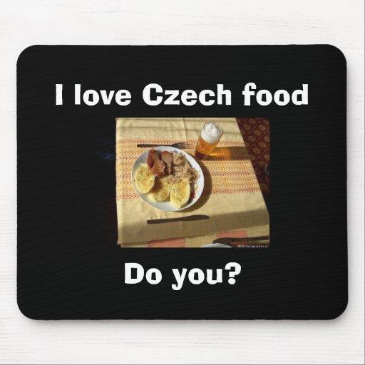I love Czech food Mouse Pads
