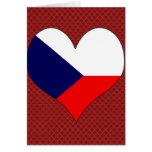 I Love Czech Greeting Card