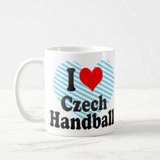 I love Czech Handball Classic White Coffee Mug