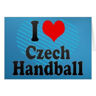 I love Czech Handball Greeting Card