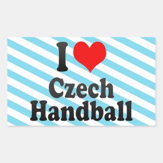 I love Czech Handball Rectangular Sticker