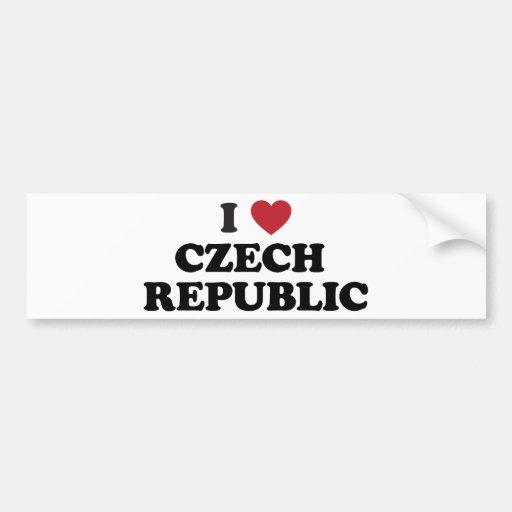 I Love Czech Republic Bumper Stickers