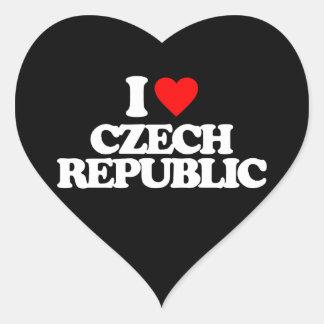 I LOVE CZECH REPUBLIC HEART STICKER