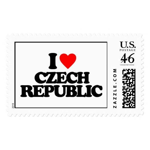 I LOVE CZECH REPUBLIC POSTAGE STAMP