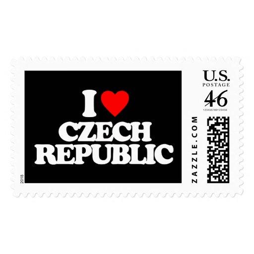 I LOVE CZECH REPUBLIC STAMP