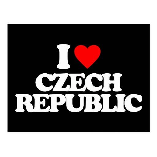 I LOVE CZECH REPUBLIC POST CARD