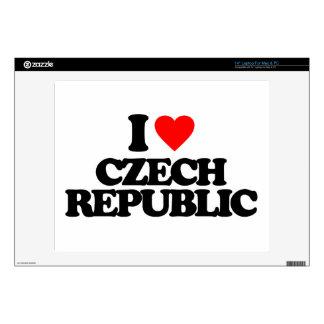 I LOVE CZECH REPUBLIC DECAL FOR LAPTOP