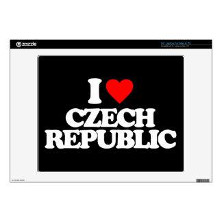 "I LOVE CZECH REPUBLIC 14"" LAPTOP SKINS"