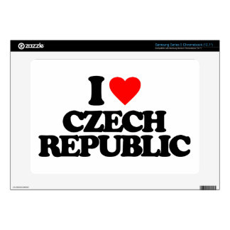 I LOVE CZECH REPUBLIC SAMSUNG CHROMEBOOK DECALS