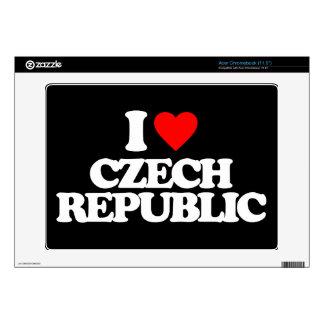 I LOVE CZECH REPUBLIC ACER CHROMEBOOK SKIN