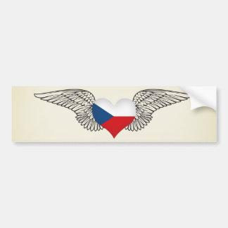 I Love Czech Republic -wings Bumper Sticker