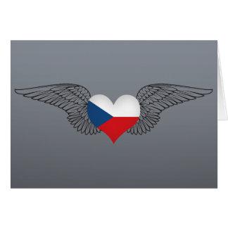 I Love Czech Republic -wings Card