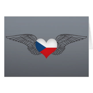 I Love Czech Republic -wings Greeting Card