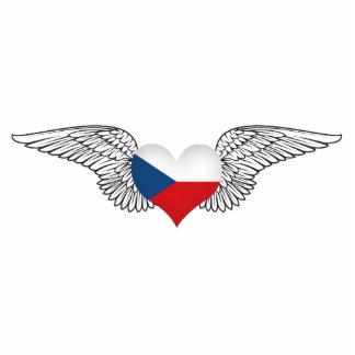 I Love Czech Republic -wings Standing Photo Sculpture