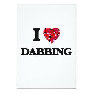 I love Dabbing 3.5x5 Paper Invitation Card