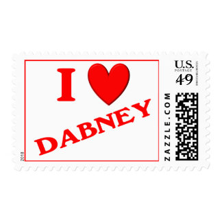 I Love Dabney Stamps