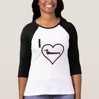 I Love Dachshund T-Shirt